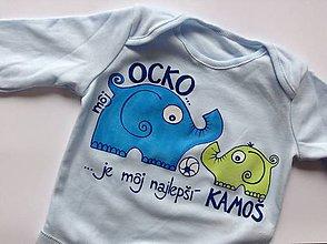 """Detské oblečenie - Maľované body s nápisom """"Môj ocko je najlepší..."""" (Na svetlom podklade s futbalkou) - 8068968_"""