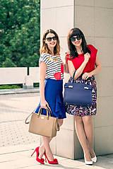 Sukne - Modrá sukňa s volánom - 8068823_