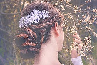 Ozdoby do vlasov - Svadba 2017 - svadobný hrebienok - 8068020_