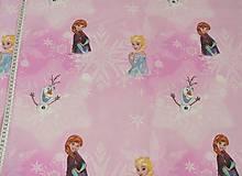 Textil - Látka Ľadové kráľovstvo 120 x 140 cm - 8068178_