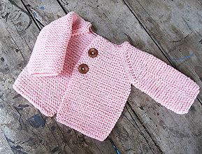 Detské oblečenie - Svetrík (25€) (ružový...SKLADOM) - 8068913_