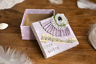 Krabičky - Love music krabička - 8068892_