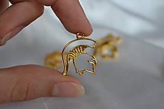Komponenty - Kovový prívesok Sparťan zlatý z 0.75 na 0.30€/ks - 8067588_