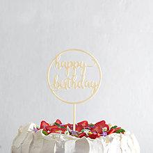 Drobnosti - HAPPY BIRTHDAY 02 zápich na tortu - 8065686_