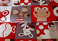 Textil - látka na pexeso červená - 8067376_