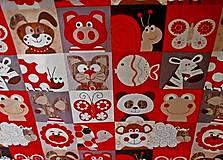Textil - látka na pexeso červená - 8067378_