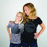 Tričká - Dámske tričko kruh - tričko popisovateľné kriedou - alebo tabuľa na tričku - 8072408_