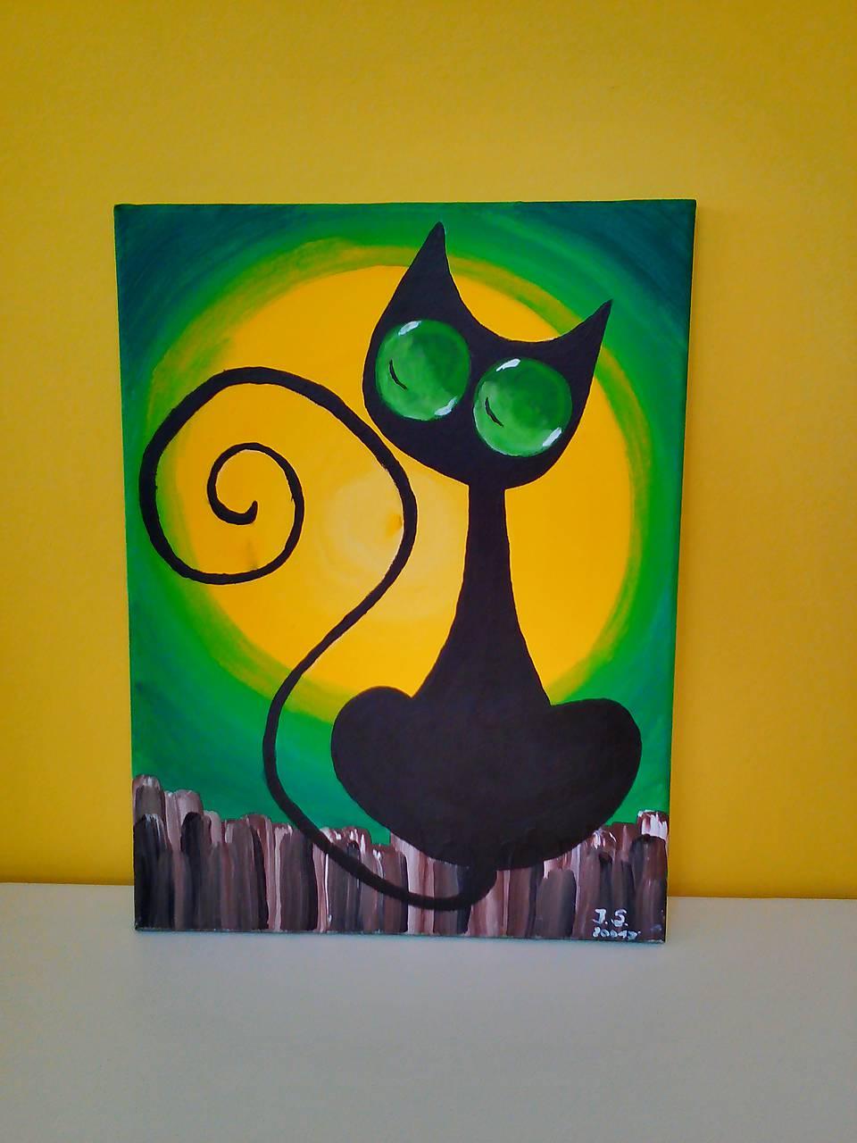 obrazy mačička čierny kohút vs biela