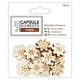 - Drevené kvetinky 16ks Elements Wood - 8072712_