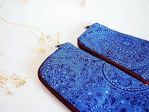 Na notebook - Obal na mobil veľký- orient v modrej - 8071548_