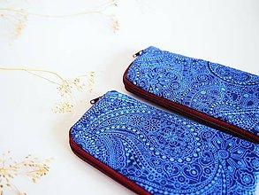Na notebook - Obal na mobil malý- orient v modrej - 8071672_