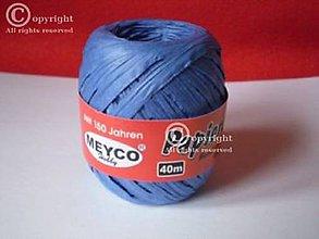 Suroviny - Papierová rafia 40m modrá - 8072090_