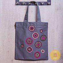Nákupné tašky - Claudianum: Vyšívaná nákupná taška Lekná - 8071127_