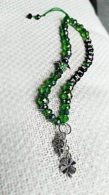 Iné šperky - Talizman do auta: Zelená vlna - 8070547_