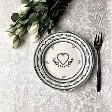 Úžitkový textil - svadobná vreckovka, obrúsok či podbradník - 8071944_