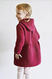 Detské oblečenie - Pletený kabátik bordový - 8072862  8fbd9e27a2