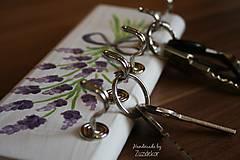 Nábytok - Vešiak na kľúče levanduľa - 8071167_