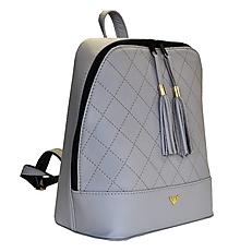 Batohy - Štýlový dámsky kožený ruksak z prírodnej kože v šedej farbe - 8072006_
