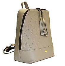Batohy - Štýlový dámsky kožený ruksak z prírodnej kože v bežovej farbe - 8072038_