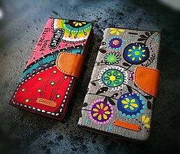 Na mobil - Ručne maľované púzdro na mobil - 8070845_