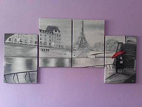 Obrazy - Paríž v daždi. - 8072270_