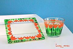 Svietidlá a sviečky - Svietnik a podnos: oranžové tulipány :) - 8072480_