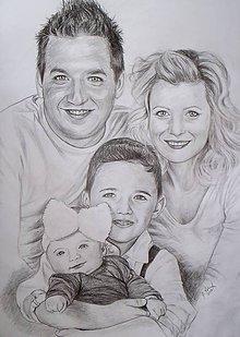 Kresby - big rodina :-) -rezervácia pre Denisku - 8071370_