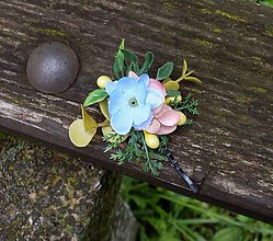 Ozdoby do vlasov - Kvetinová sponka - 8072116_