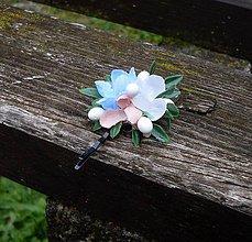 Ozdoby do vlasov - Kvetinová sponka - 8072238_