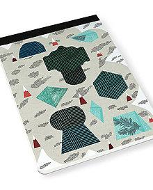 Papiernictvo - Skicár B5 Tajuplný smaragdový ostrov - 8071106_