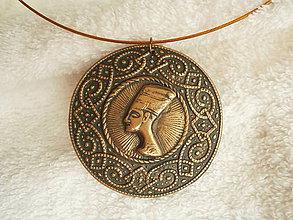 Náhrdelníky - Náhrdelník z polyméru, dávny Egypt 1 - 8071657_