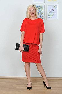 Šaty - Šaty pre každú príležitost SIMPLE red, vel.XS - M - červené - 8069699_