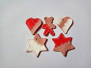 Dekorácie - Vianočné perníčky 5ks VÝPREDAJ !!! - 8077554_