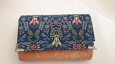 Peňaženky - Peňaženka priestranná na veľa kartičiek - 8076215_
