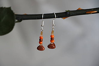Náušnice - Náušnice s karneolom oranžové - 8075186_