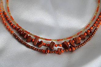 Náhrdelníky - Náhrdelník s karneolom oranžový - 8075220_