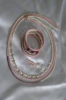 Sady šperkov - Súprava ružová - 8075413_