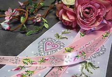 svadobná folklórna stuha úzka - ružový satén