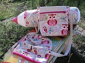 Detské súpravy - Taška,pastelka,čiapka,sukienka - 8073757_