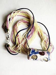 Náhrdelníky - náhrdelník farebný - 8077743_