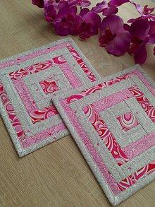 Úžitkový textil - Podšálky *pastelky* - 8074937_