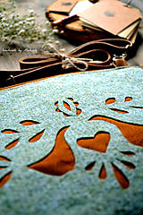 Kabelky - Ani veľká ani malá ľudová kabelka (farebné kombo!-zelená)  - 8075594_
