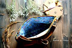 Kabelky - Ani veľká ani malá ľudová kabelka (farebné kombo!-zelená)  - 8075596_