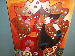 Obrazy - Šťastné mačky - 8074897_