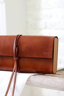 Kabelky - Listová kabelka MINI BROWN - 8075601_