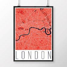 Obrazy - LONDÝN, moderný, červený - 8074390_