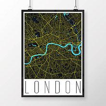 Obrazy - LONDÝN, moderný, čierny - 8074405_