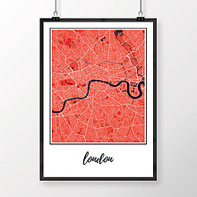 Obrazy - LONDÝN, klasický, červený - 8074415_