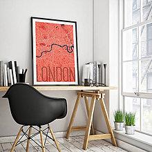 Obrazy - LONDÝN, elegantný, červený - 8074423_