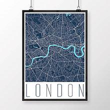 Obrazy - LONDÝN, moderný, tmavomodrý - 8074429_